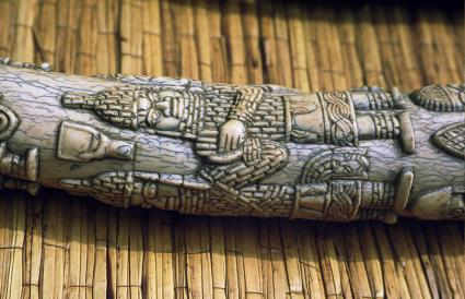 part of a antique carved tusk