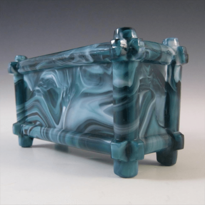 Sowerby Turquoise Slag Glass Bowl