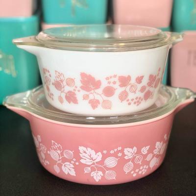 Vintage Pyrex Pink Gooseberry