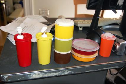 Tupperware that was in the Airstream