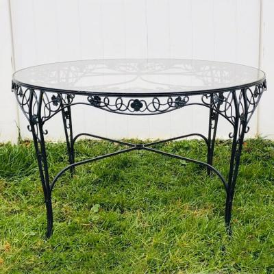 Vintage iron dining table by Molla