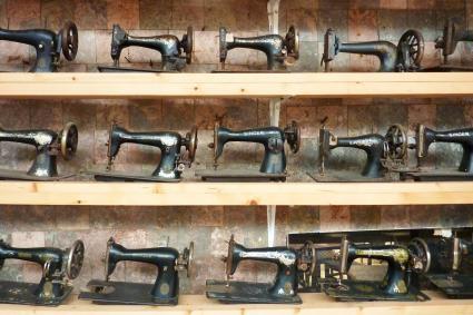 Sewing machines display