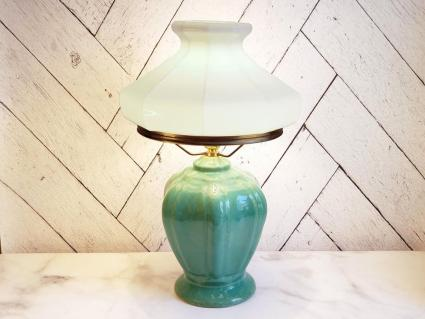 Antique Morton & Cliftwood Art Pottery Table Lamp