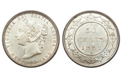 Canada Newfoundland Victoria 50 Cents 1882