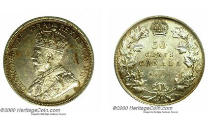 Canada, George V 50 cents 1921
