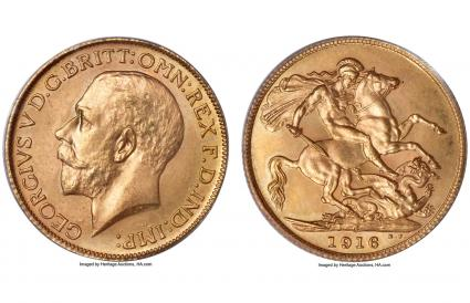 Canada, George V gold Sovereign 1916-C