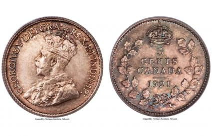 Canada, George V 5 Cents 1921