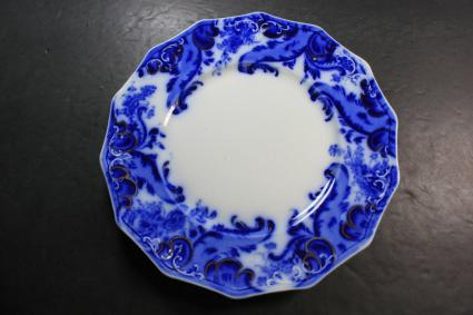 W.H. Grindley Flow Blue Argyle