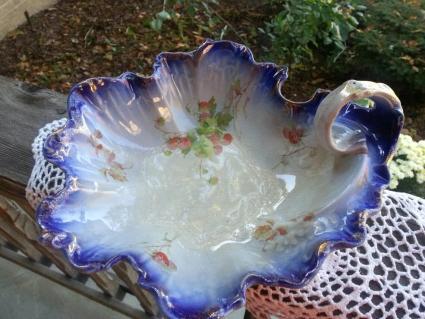 Antique Flow Blue La Belle China