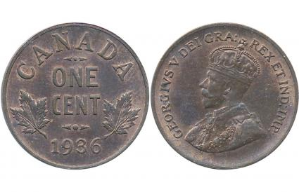 1936 Canadian 1 Cent
