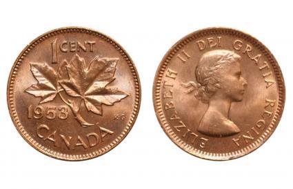 1953 Shoulder Fold Penny