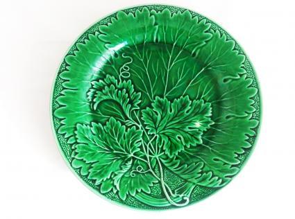 Green Plate Wedgwood Majolica