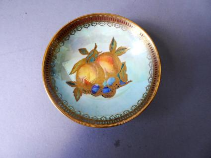 Wedgwood lustre small bowl with fruit design