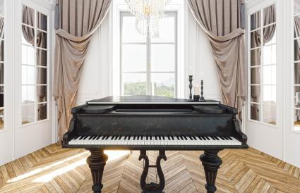 Vintage grand piano