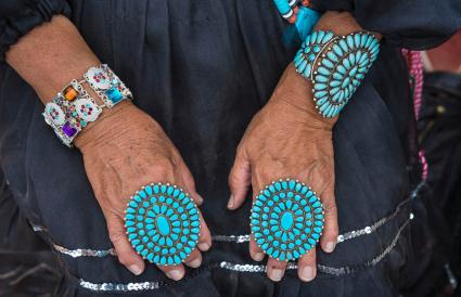 Navajo traditional turquoise jewels