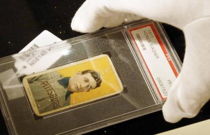 rare baseball card of Honus Wagner