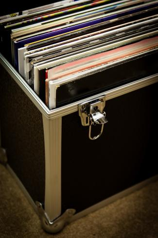 Trunk being used to store records