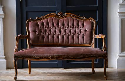 An old antique sofa