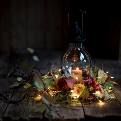 Elegant vintage holiday lantern