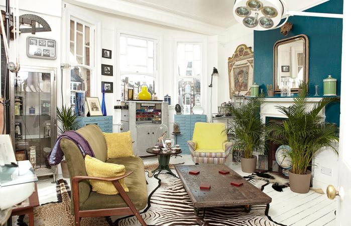 Antique dealers living room