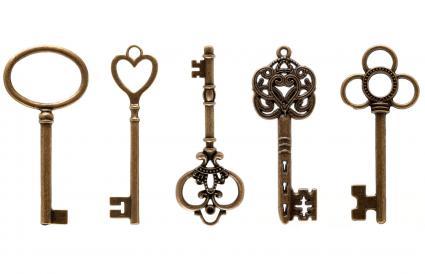 Antique skeleton key bow shape