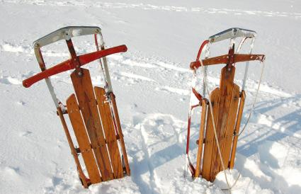 Flexible Flyers in Snow