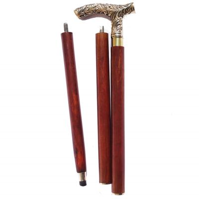 Foldable antique walking-stick
