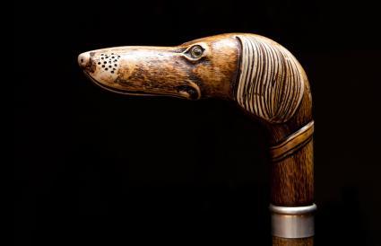 Decorative handle of walking sticks