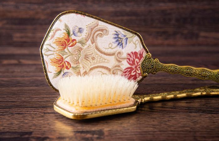 antique hair brush