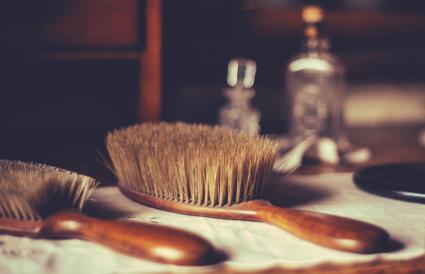 Antique Hair Brush Bristles