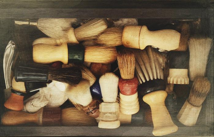 Shaving Brushes In Container