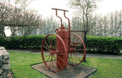 Antique Fire Extinguisher on Wheels