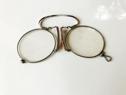 Closeup of antique eyeglasses