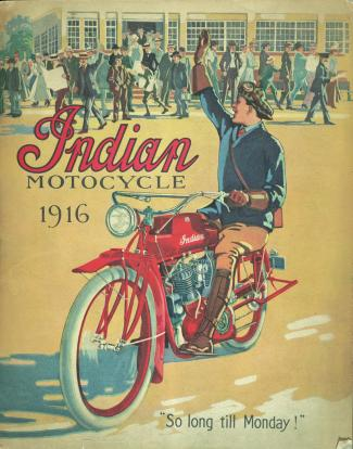 1916 Image of Indian motorcycle