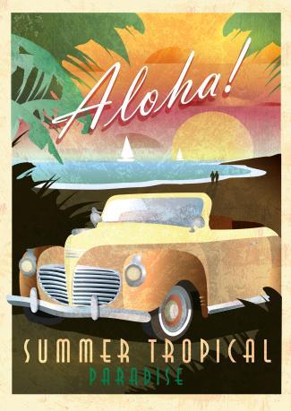 Aloha Art Deco style
