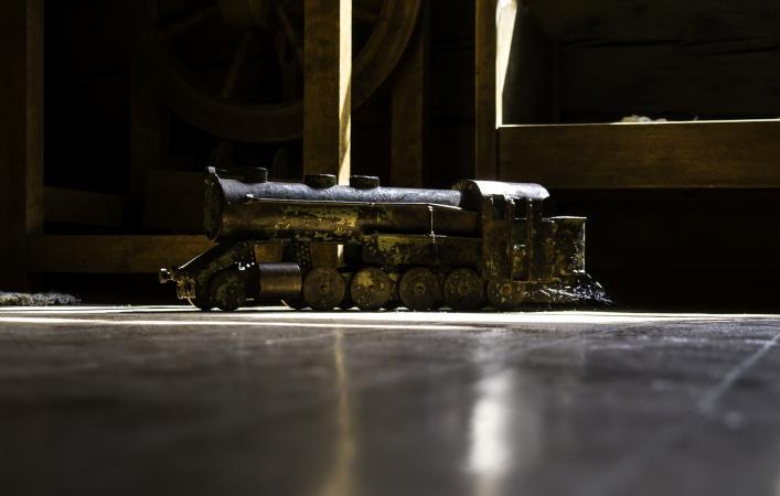 Antique train locomotive toy