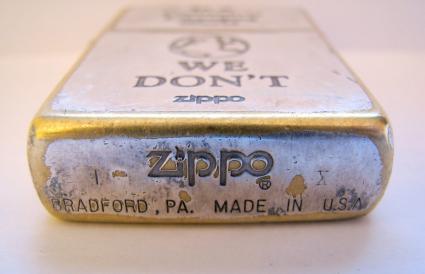 Zippo lighter (bottom)
