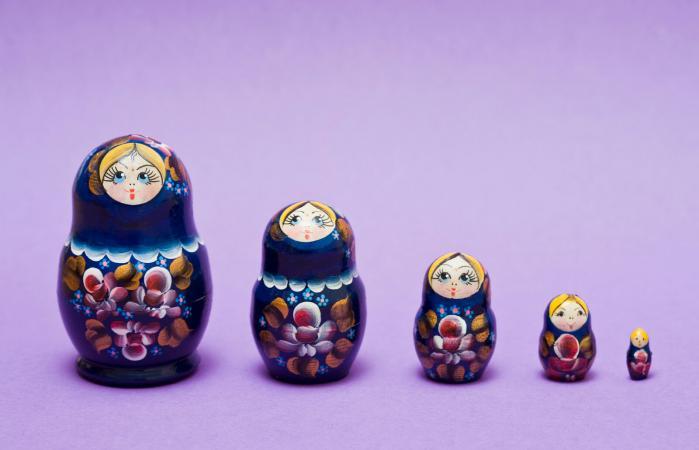 Antique Russian Nesting Dolls