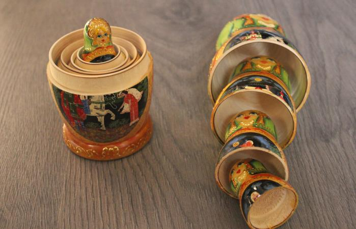 Russian Nesting Dolls On Table