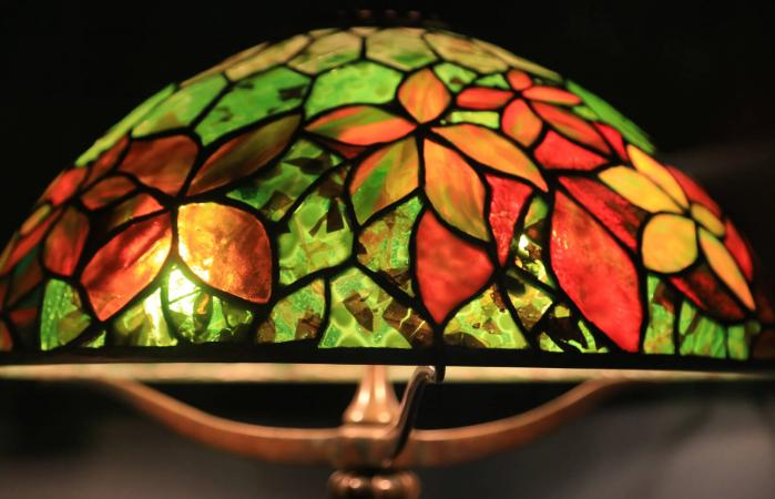 Colorful Tiffany type lamp