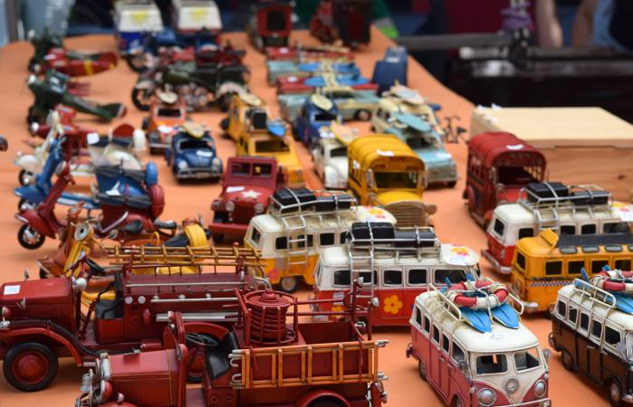 Various Toy Vehicle On Display