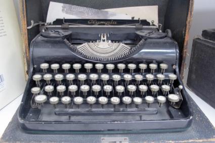 An old Olympia typewriter