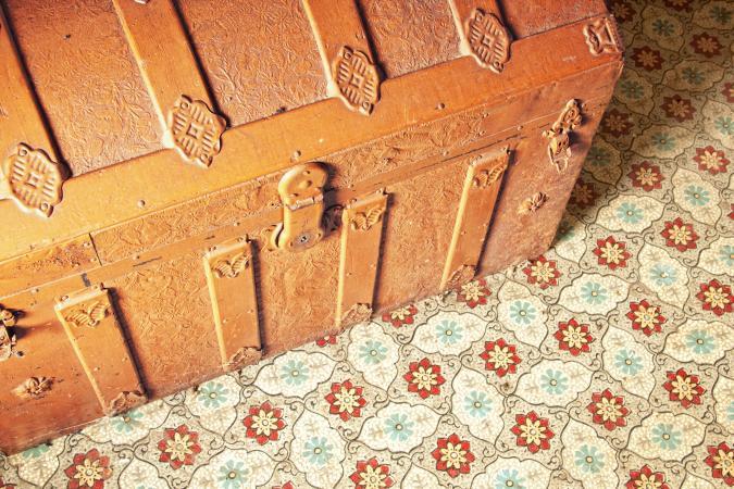Antique trunk detail