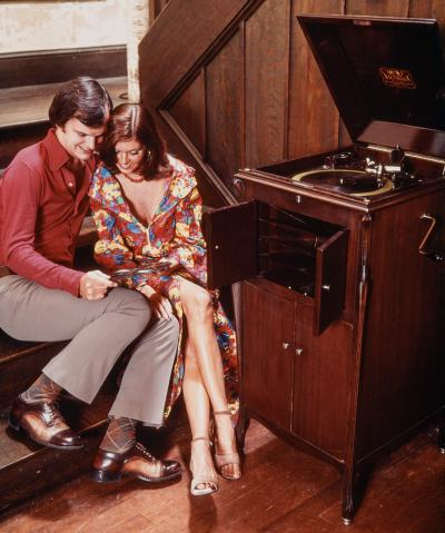 Victrola record player 1970s