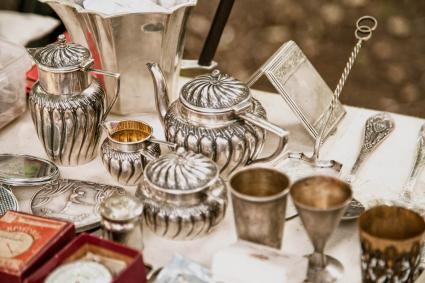Old metal tableware collectibles