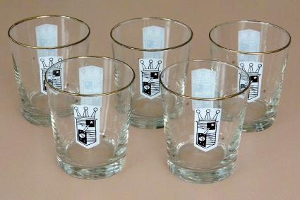 Set Of Libbey Safedge Old Fashioned Glasses With The Zenith Electronics Logo