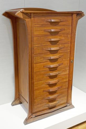 Oak graphics cabinet from the director's office