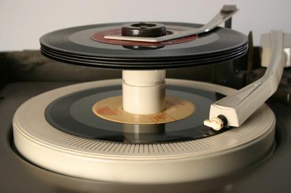 Collectible 45 records.