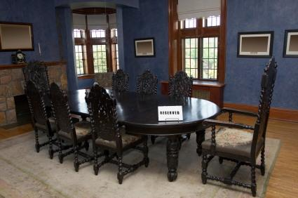 Jacobean Revival chairs - Antique Old English Dining Room Chairs