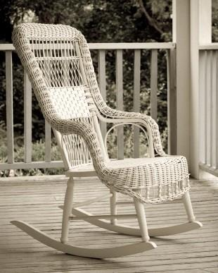 Amazing Antique Rattan Rocking Chair